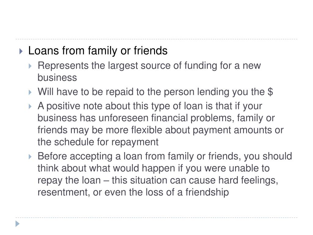 Loans from family or friends
