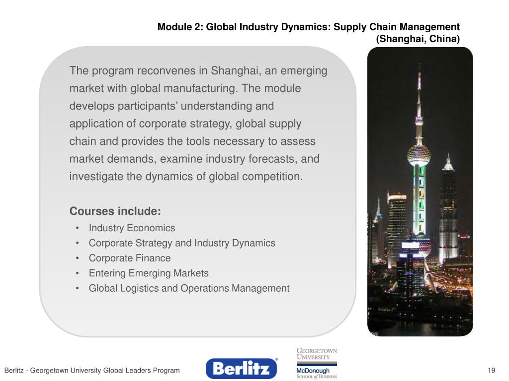 Module 2: Global Industry Dynamics: Supply Chain Management