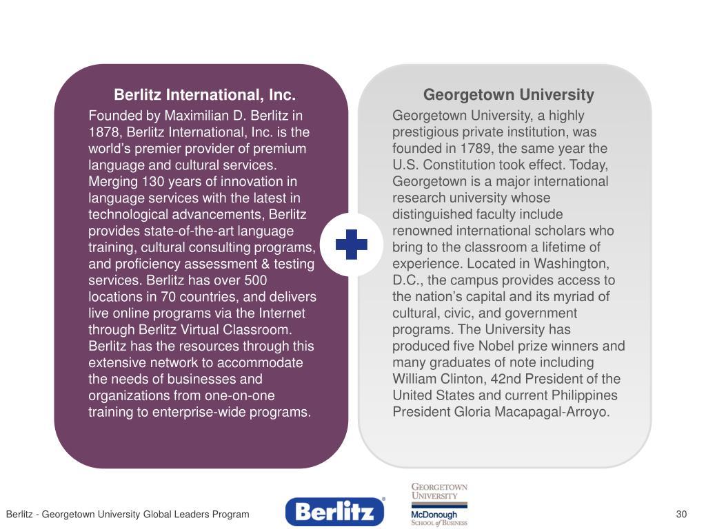 Berlitz International, Inc.