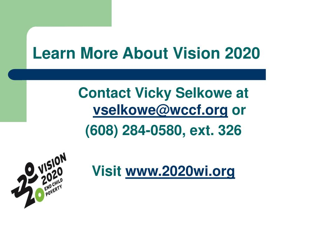 Learn More About Vision 2020