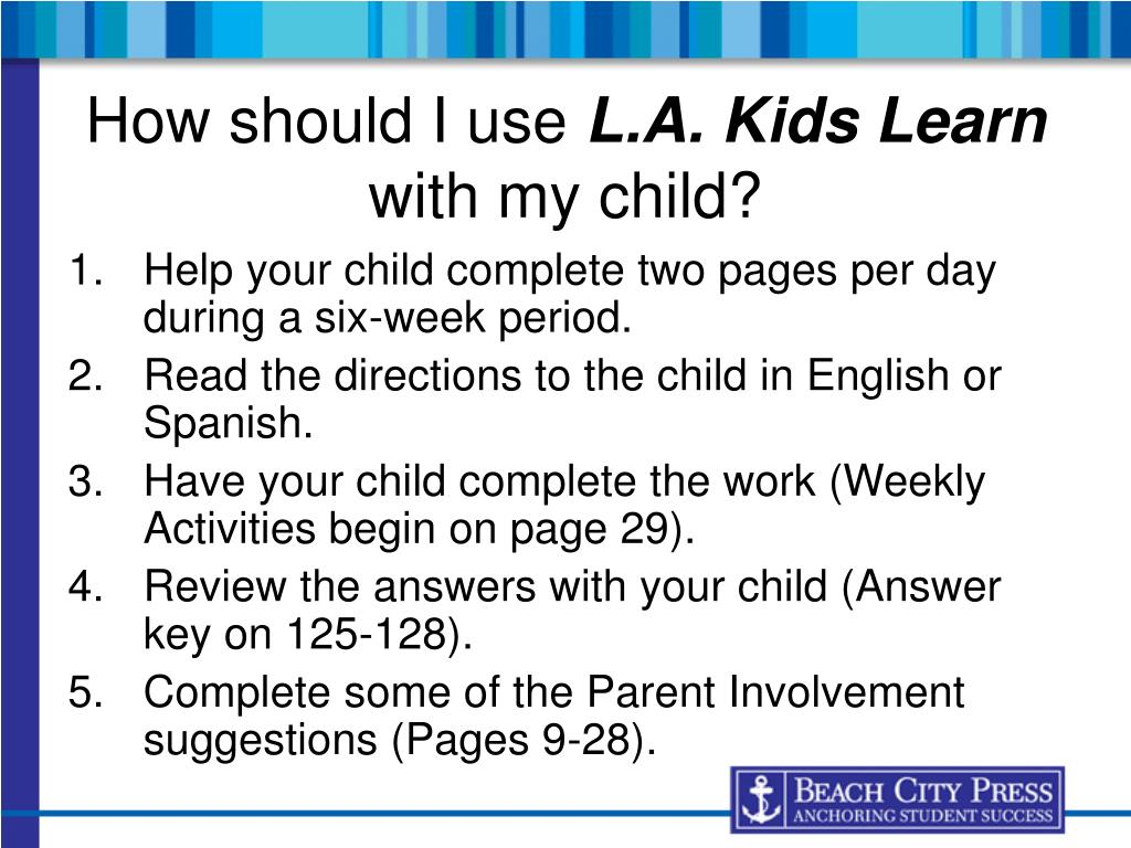 Help your child complete two pages per day during a six-week period.