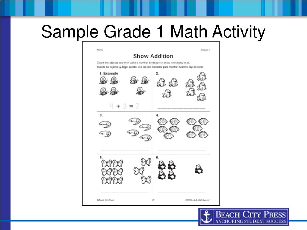 Sample Grade 1 Math Activity