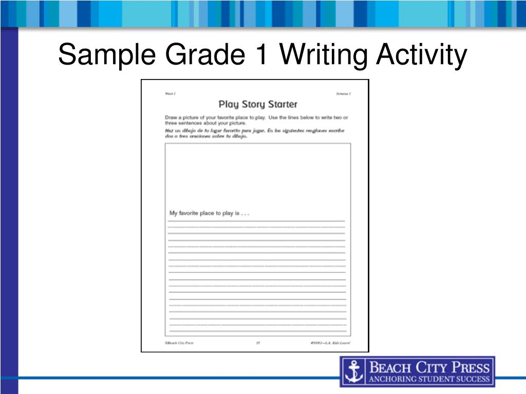 Sample Grade 1 Writing Activity