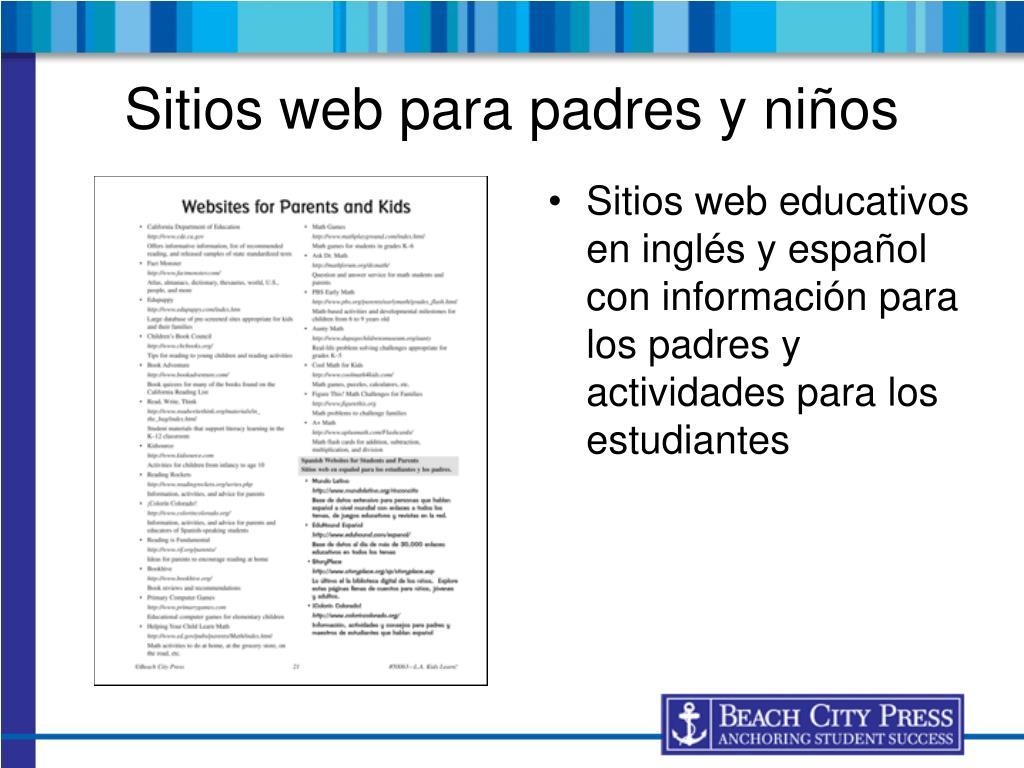 Sitios web para padres y niños