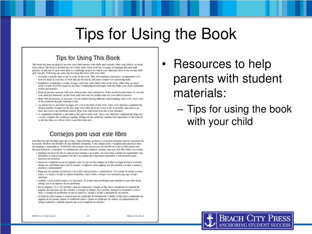 Tips for Using the Book