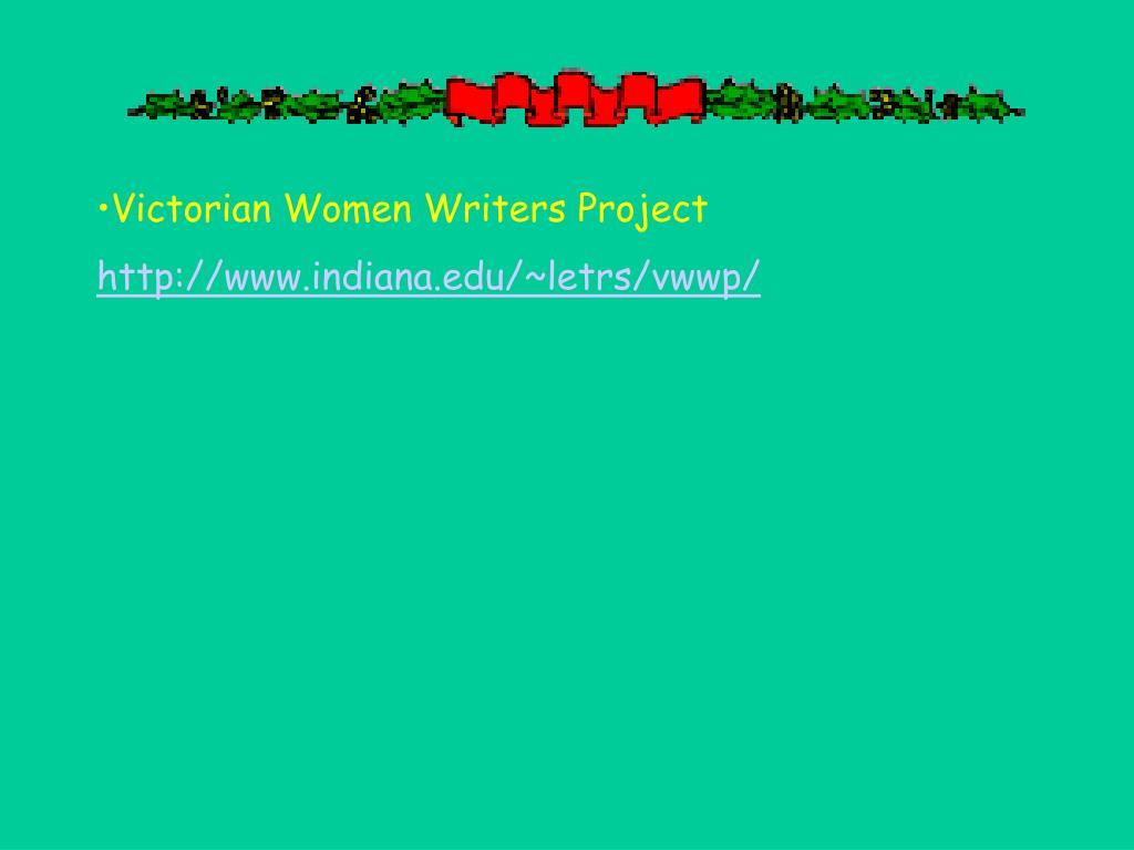 Victorian Women Writers Project