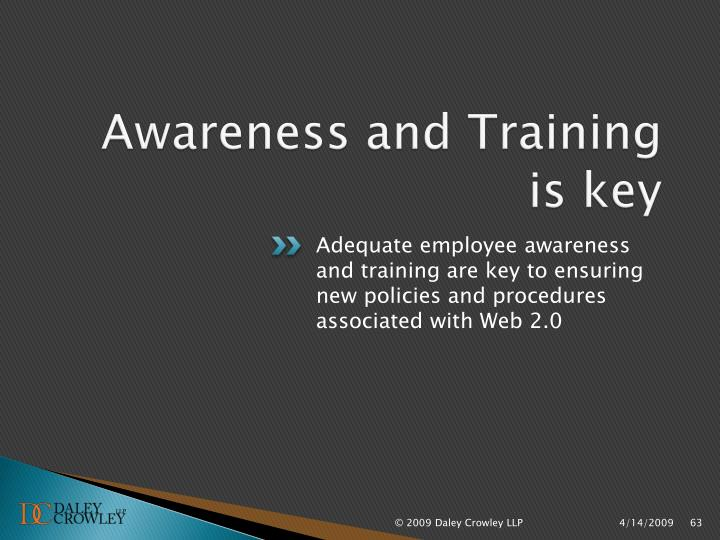 Awareness and Training is key