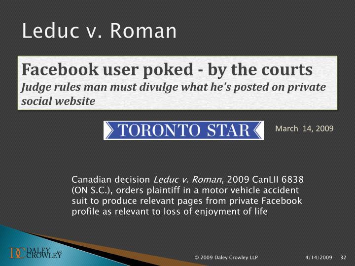 Leduc v. Roman