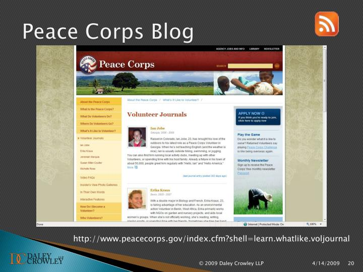 Peace Corps Blog