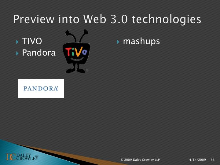 Preview into Web 3.0 technologies