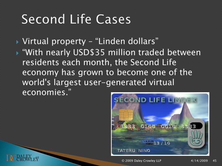 Second Life Cases