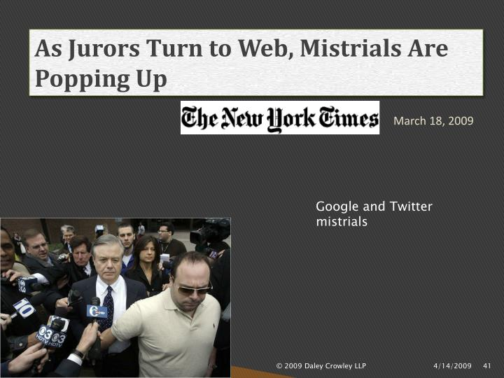 As Jurors Turn to Web, Mistrials Are Popping Up