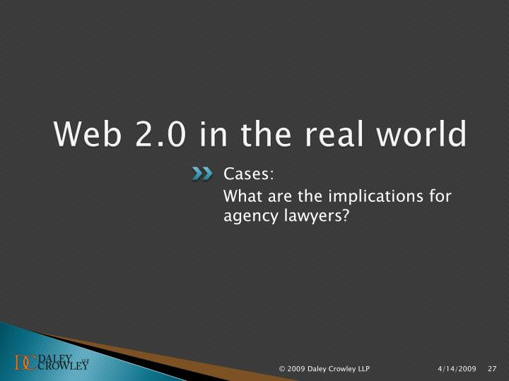 Web 2.0 in the real world