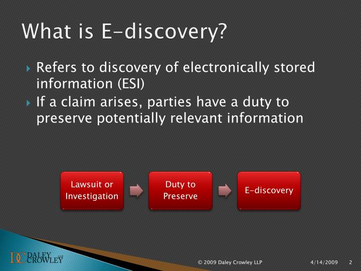 What is e discovery
