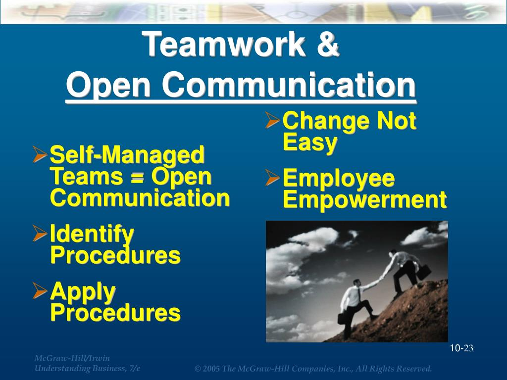 Self-Managed Teams = Open Communication