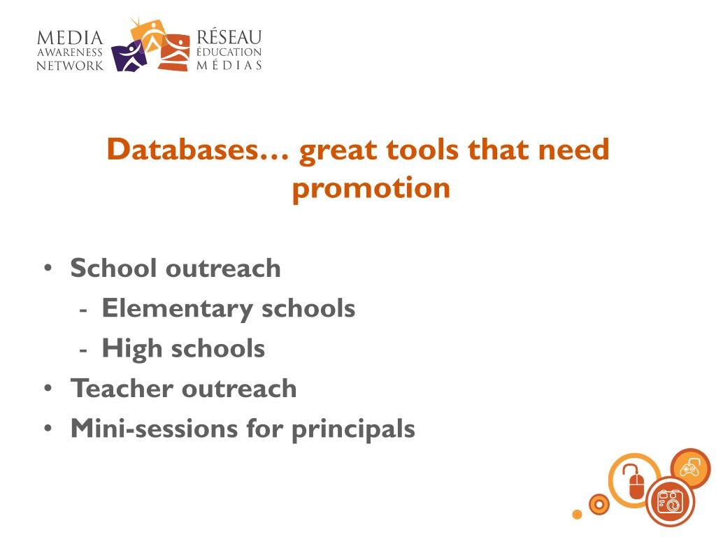 Databases… great tools that need promotion