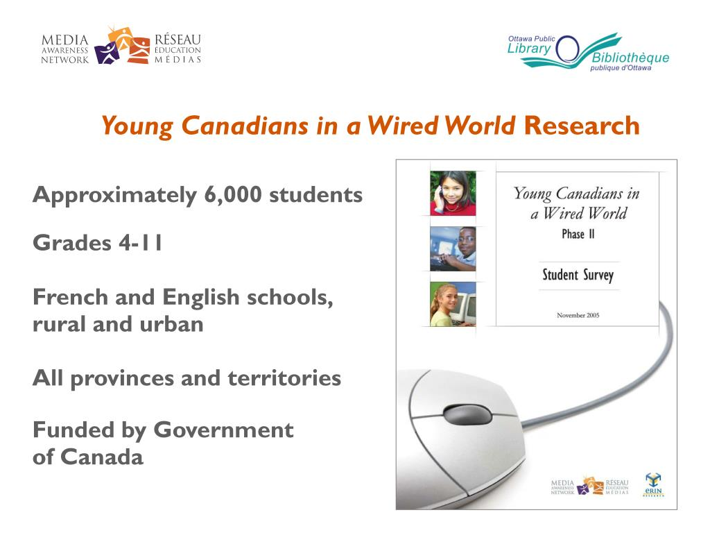 Young Canadians in a Wired World