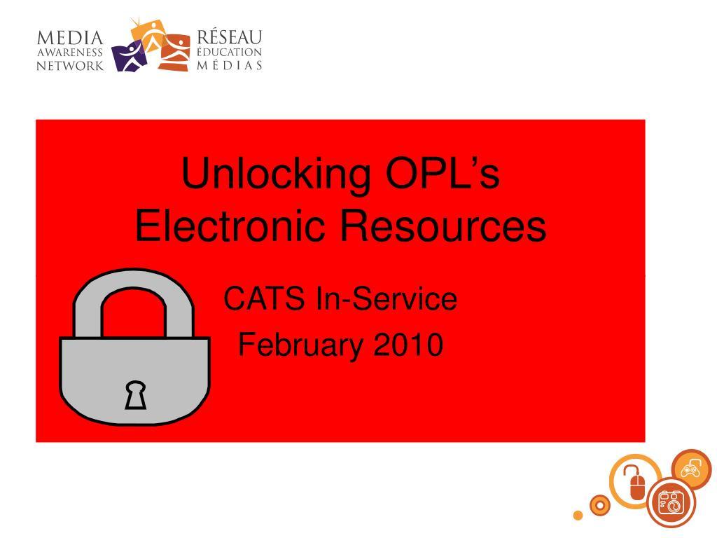 Unlocking OPL's