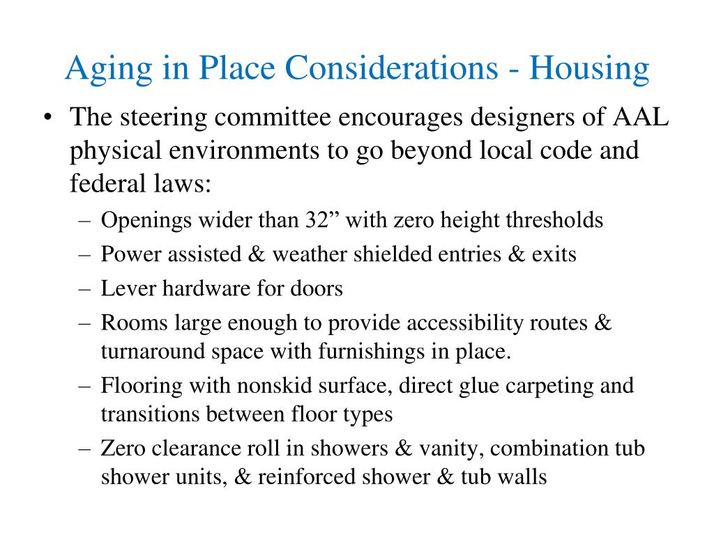 Aging in Place Considerations - Housing