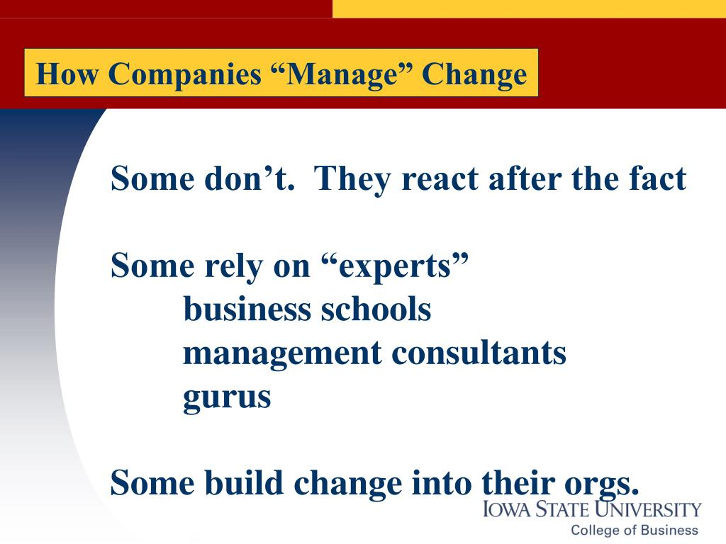 "How Companies ""Manage"" Change"
