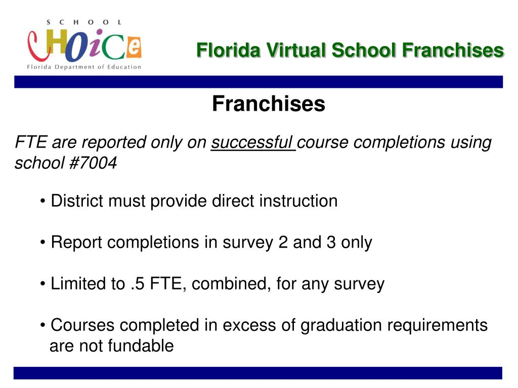Florida Virtual School Franchises