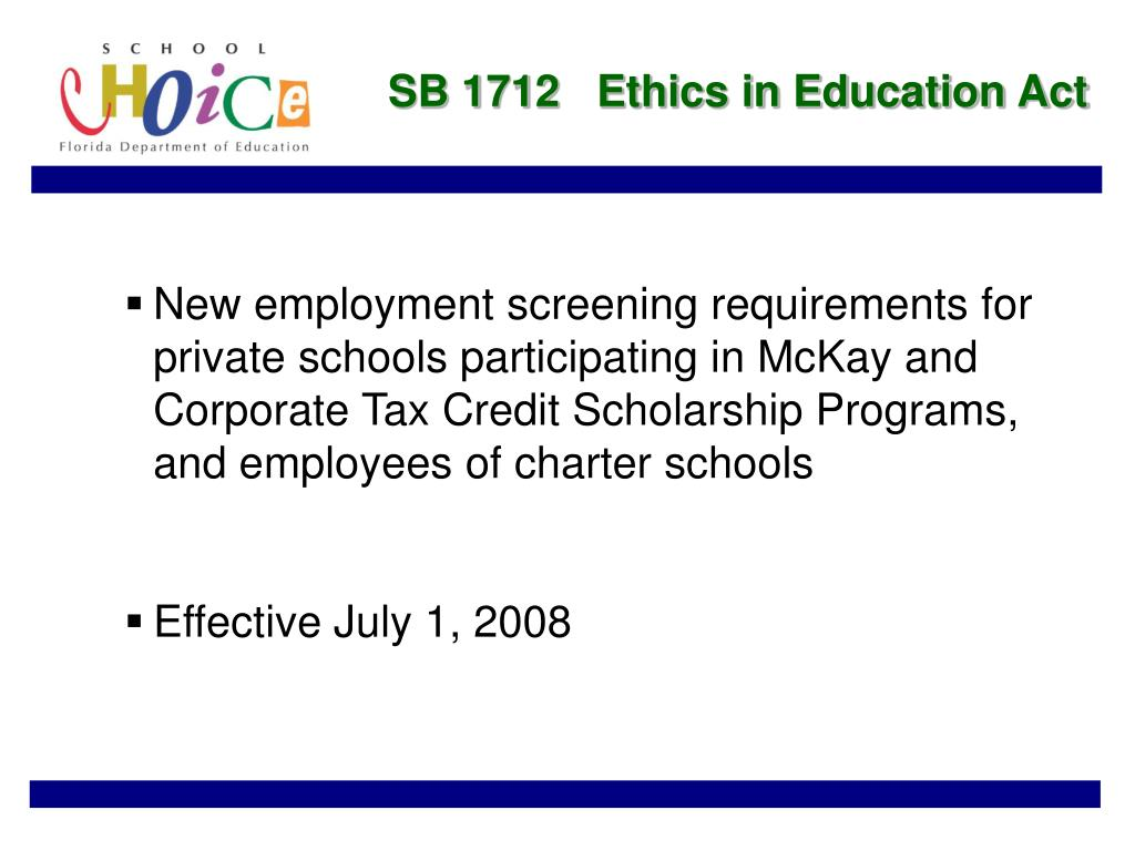 SB 1712   Ethics in Education Act