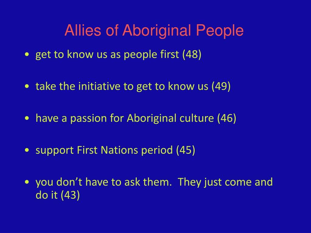 Allies of Aboriginal People