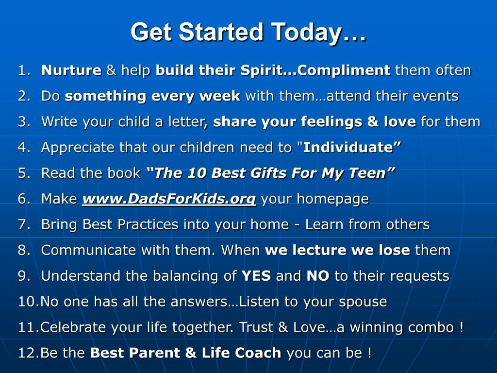 Get Started Today…