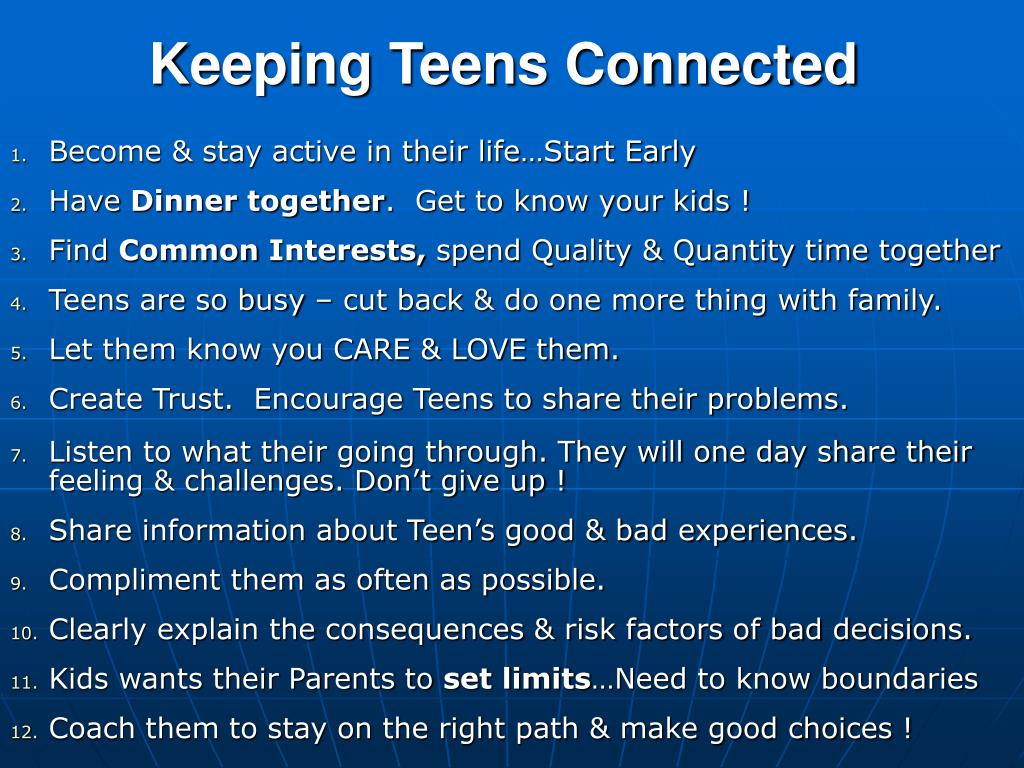 Keeping Teens Connected