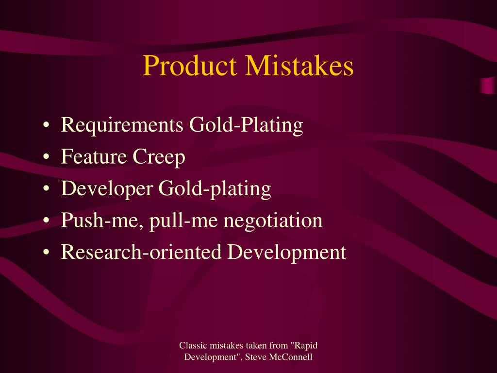 Product Mistakes