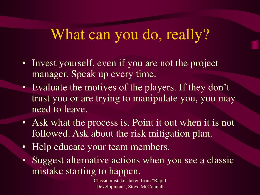 What can you do, really?