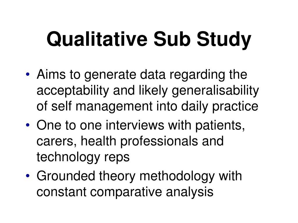 Qualitative Sub Study