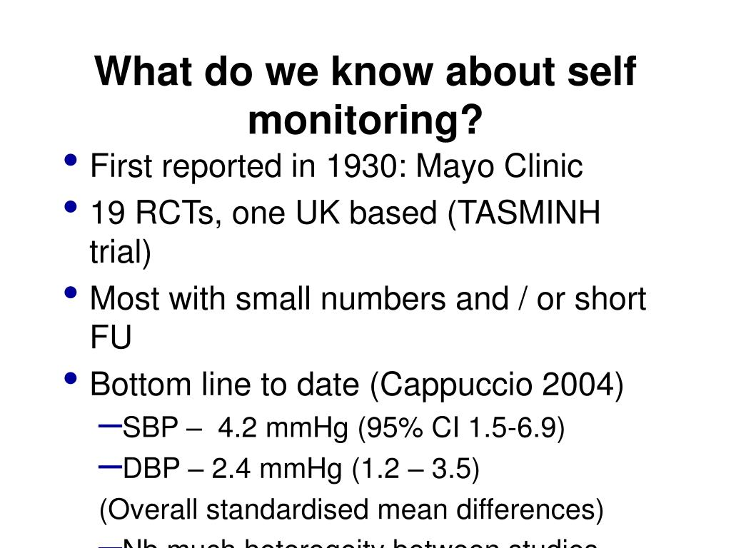 What do we know about self monitoring?