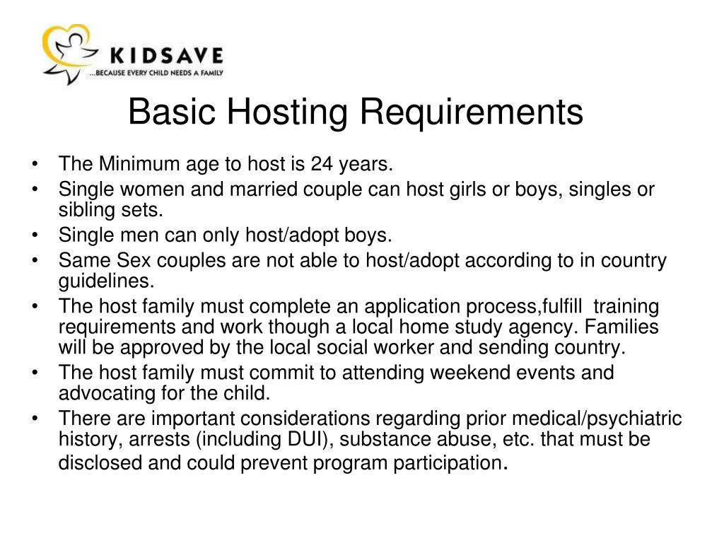 Basic Hosting Requirements