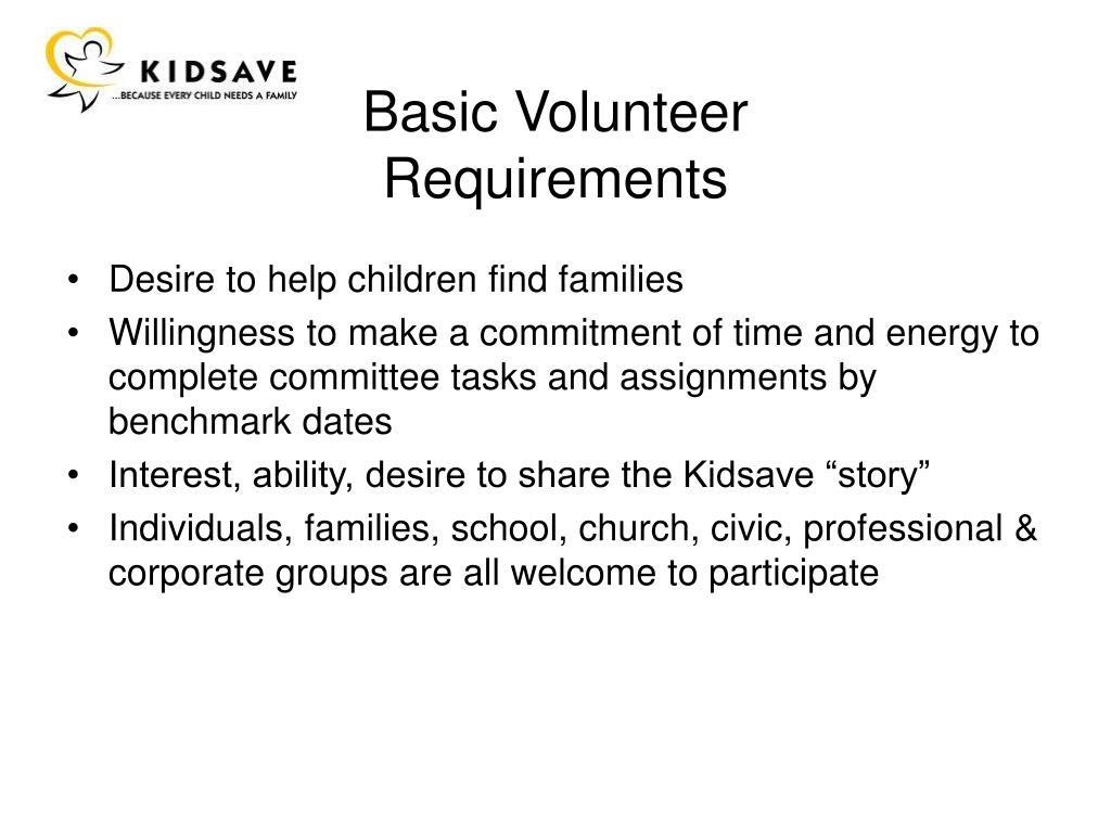 Basic Volunteer