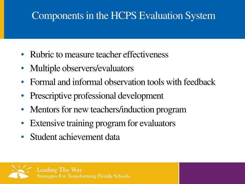 Components in the HCPS Evaluation System