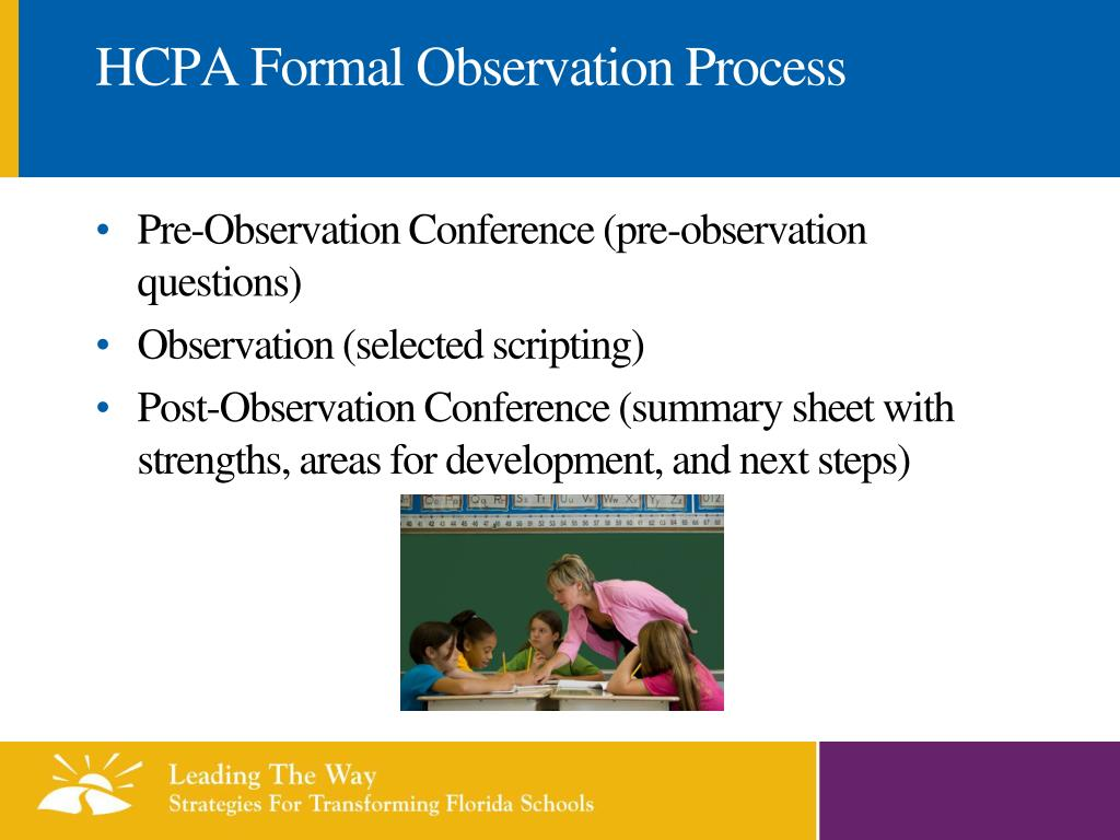 HCPA Formal Observation Process