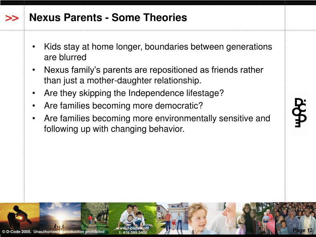 Nexus Parents - Some Theories