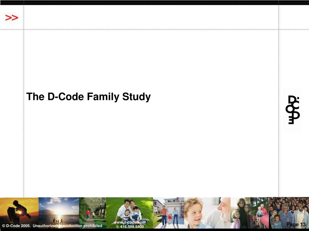 The D-Code Family Study