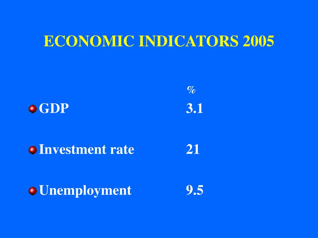 ECONOMIC INDICATORS 2005
