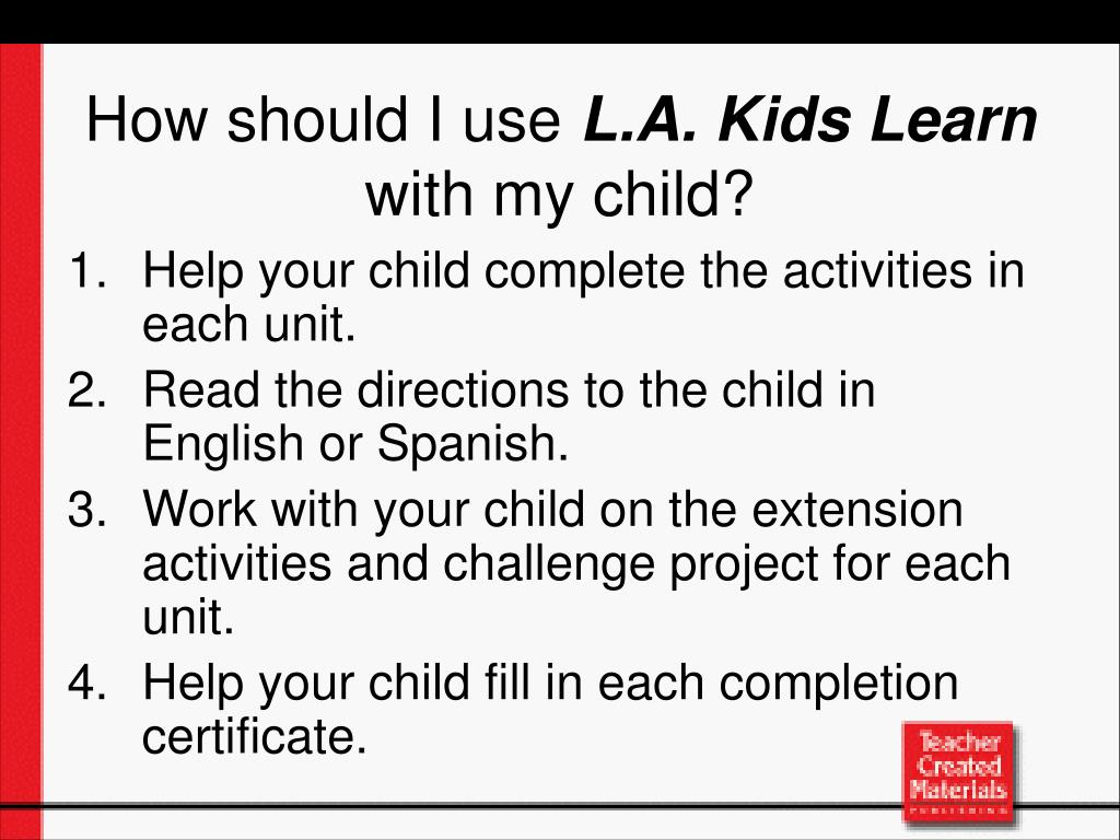 Help your child complete the activities in each unit.