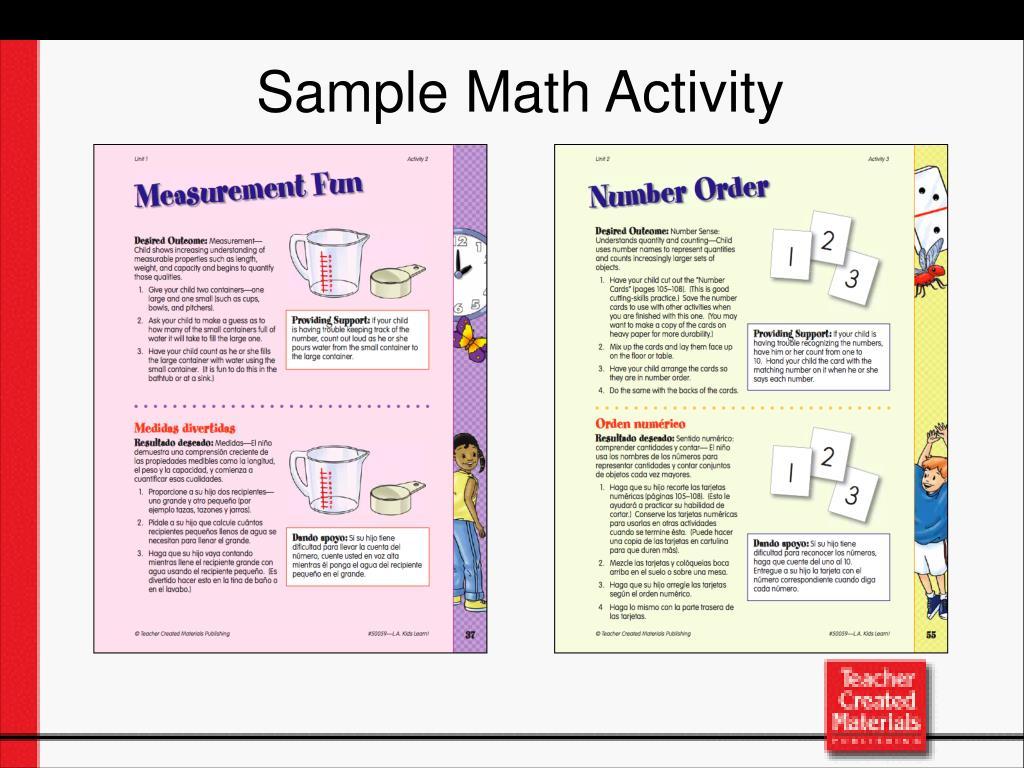 Sample Math Activity