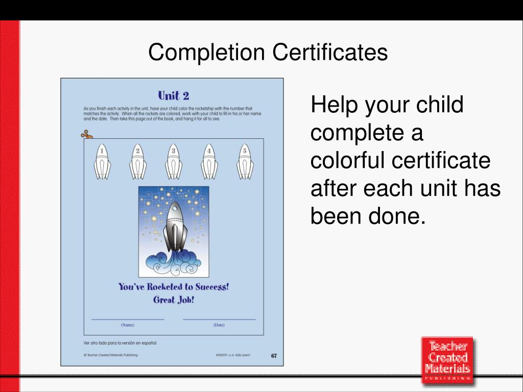 Completion Certificates