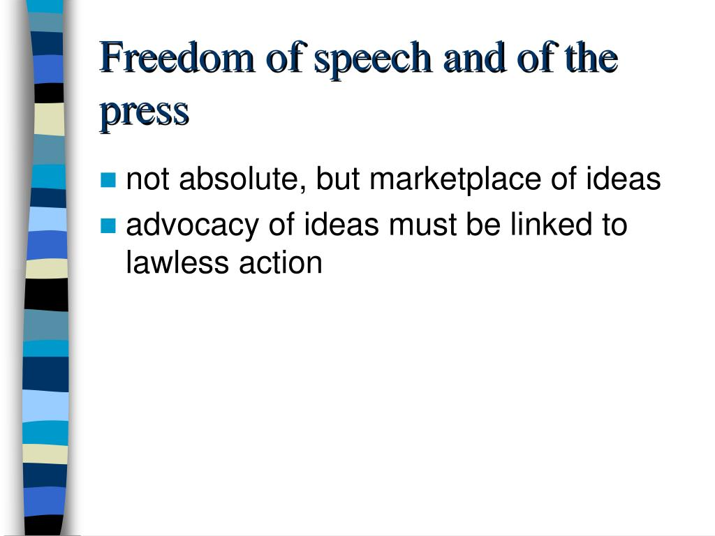 Freedom of speech and of the press