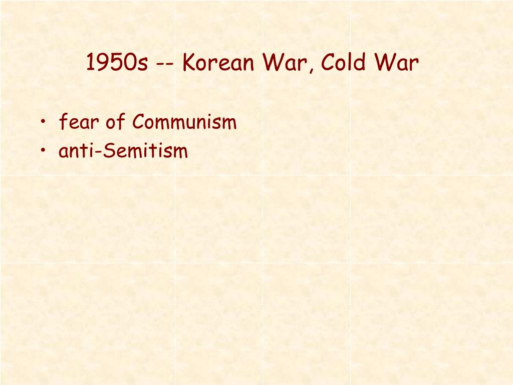 1950s -- Korean War, Cold War