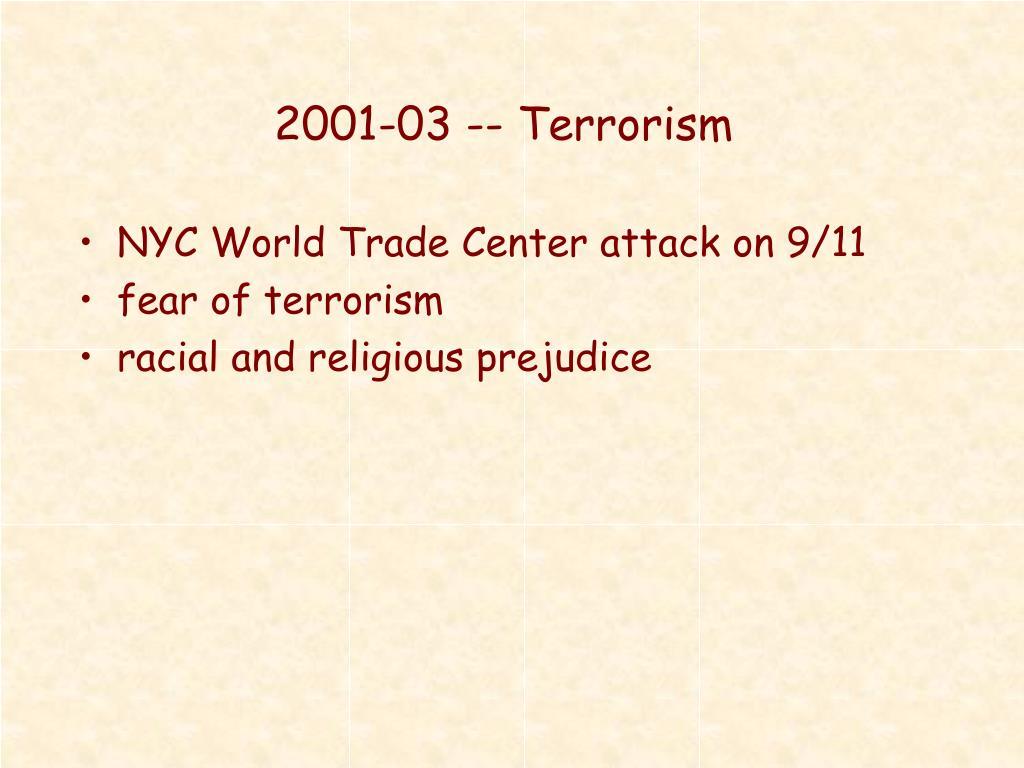 2001-03 -- Terrorism