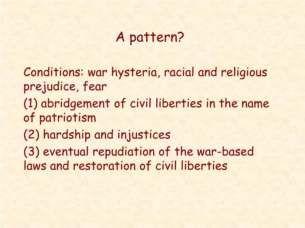 A pattern?