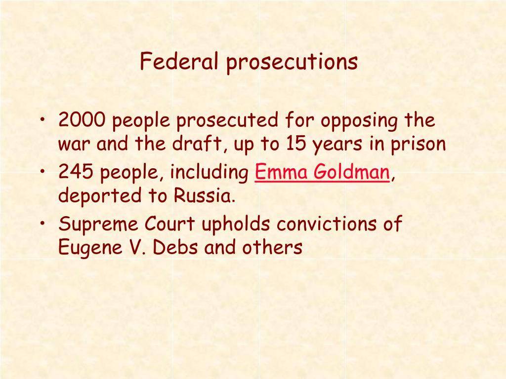 Federal prosecutions