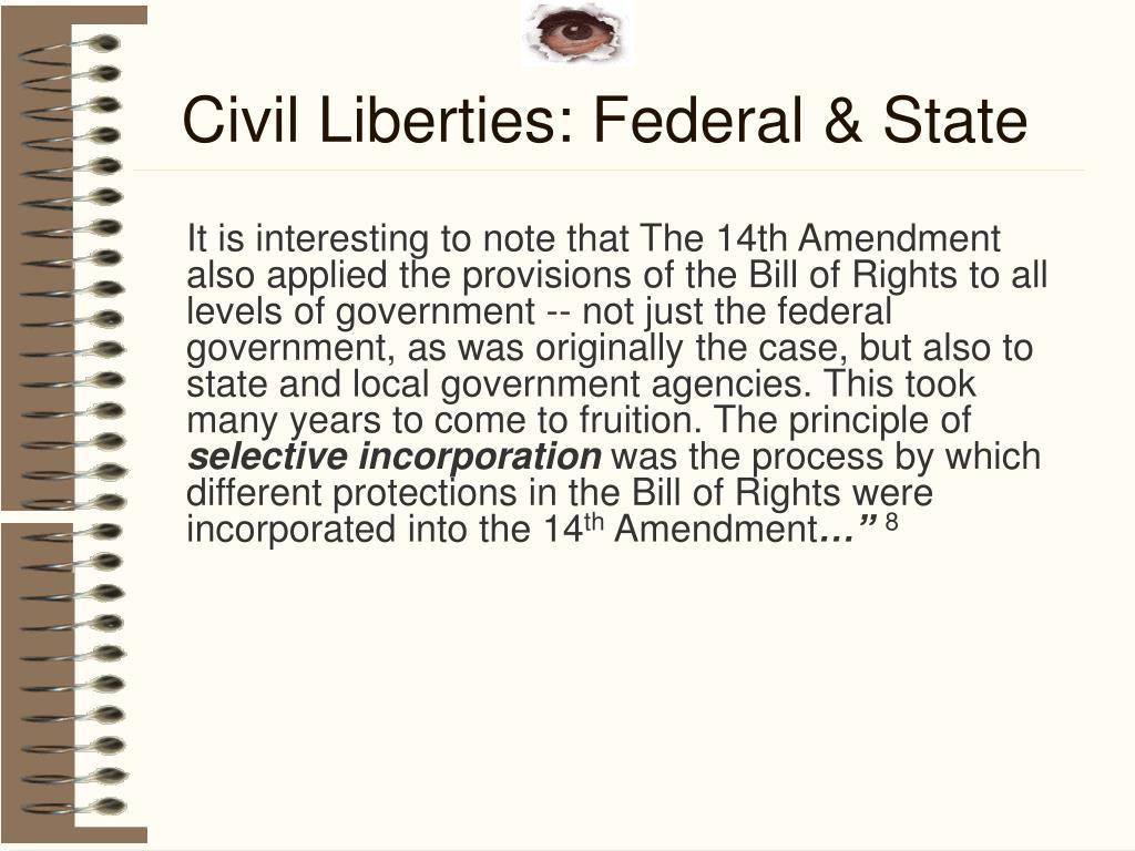 Civil Liberties: Federal & State