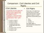 comparison civil liberties and civil rights